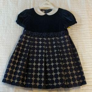 NWT baby Graziella dark blue dress